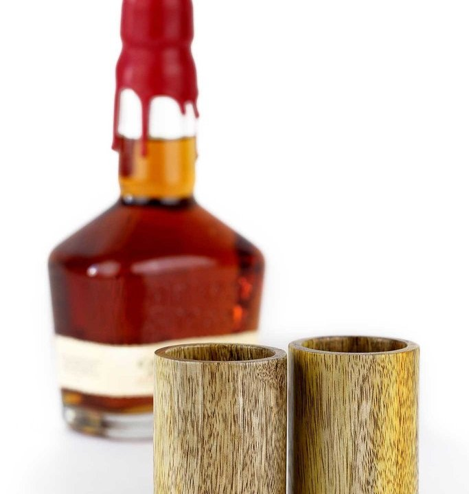 Mango Wood Shot Cup